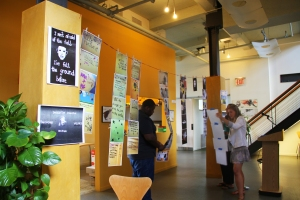 We filled the venue with prints of murals and other artwork done by youth in segregated areas of America.