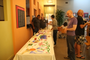 The event featured an interactive mural to which all attendees could contribute.
